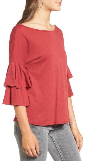 Women's Ten Sixty Sherman Ruffle Sleeve Tee 5