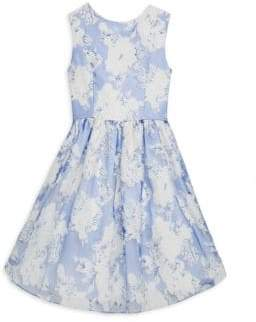 Helena and Harry Toddler's, Little Girl's& Girl's Floral-Print Bow Dress