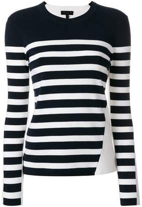 Rag & Bone striped crew neck jumper