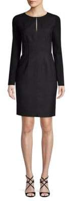 Elie Tahari Iman Long-Sleeve Sheath Dress