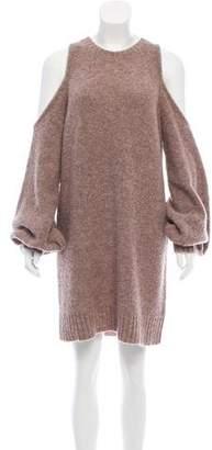Lovers + Friends Cold-Shoulder Sweater Dress