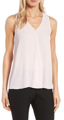 Women's Vince Camuto Drape Front V-Neck Sleeveless Blouse $69 thestylecure.com