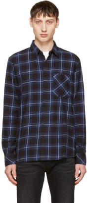 Nudie Jeans Indigo Sten Block Check Shirt