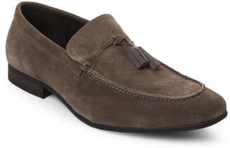 Zanzara Grey Savern Tasseled Suede Loafers