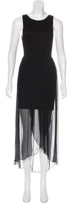 Alice + Olivia Silk-Accented Midi Dress w/ Tags
