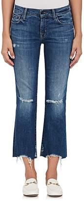J Brand Women's Selena Distressed Crop Flared Jeans