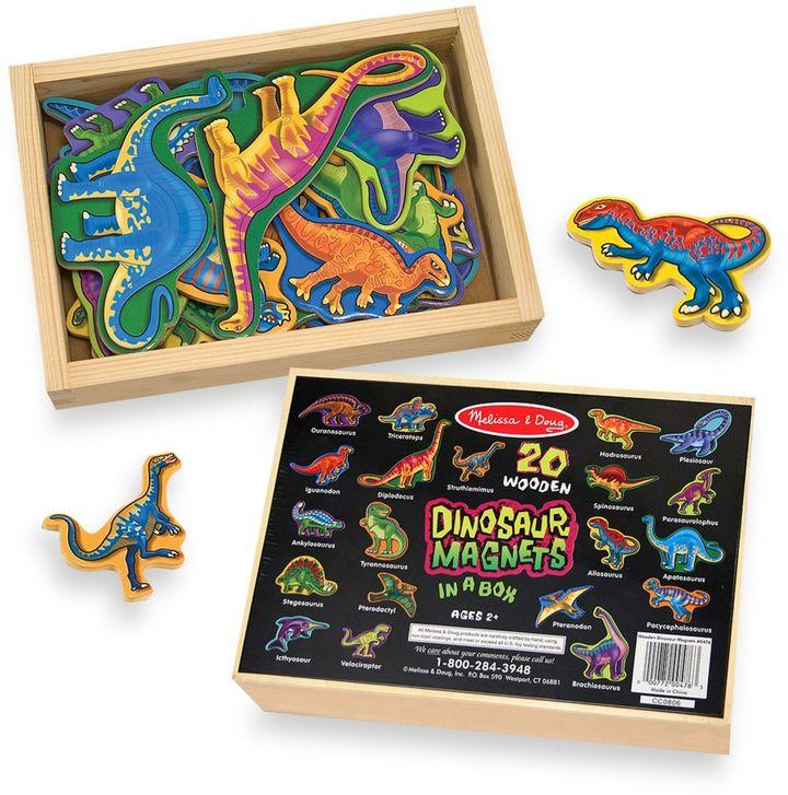 Melissa & Doug® 20-Piece Wooden Dinosaur Magnet Set