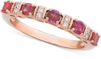 Macy's Pink Tourmaline (3/5 ct. t.w.) & Diamond (1/8 ct. t.w.) Ring in 14k Rose Gold