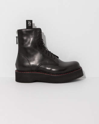 R 13 Single Stacked Lace-Up Boots