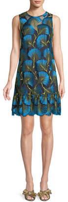 Trina Turk Barbra Fan Foliage Mini Dress