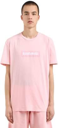 Napapijri Logo Patch Cotton Jersey T-Shirt