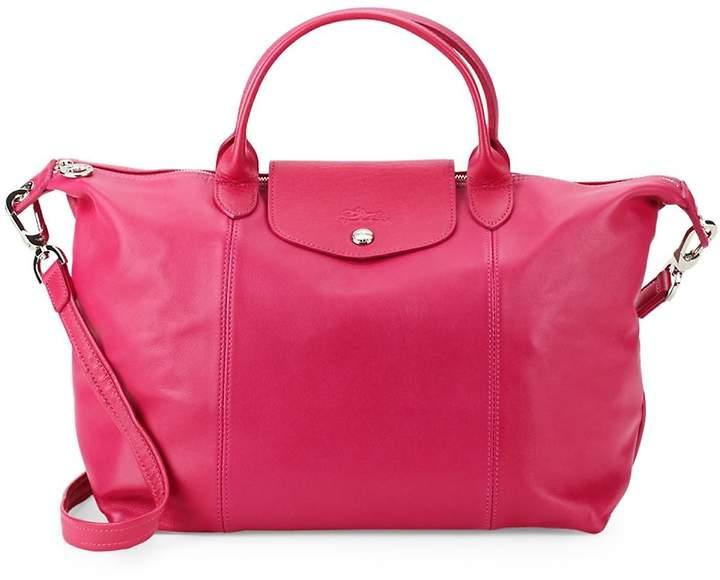 Longchamp Women's Le Pliage Leather Medium Top Handle Bag - PINK - STYLE