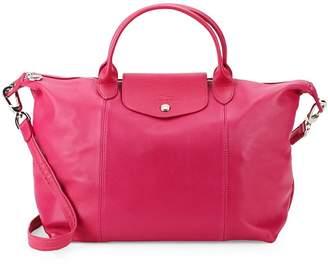 Longchamp Women's Le Pliage Leather Top Handle Bag