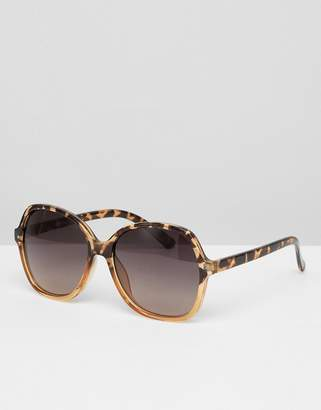 Jeepers Peepers Oversized Square Frame Sunglasses In Light Tort