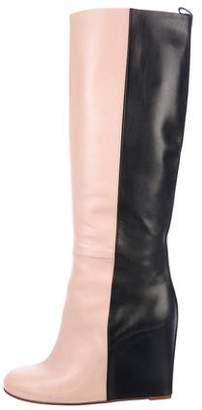 Celine Colorblock Wedge Boots