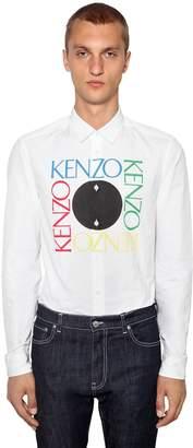 Kenzo Printed Logo Slim Fit Cotton Shirt