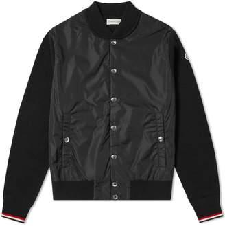 Moncler Maglione Nylon Wool Bomber Jacket