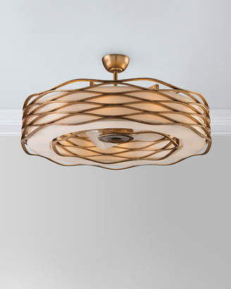 John-Richard Collection Ribbons of Gold 12-Light Pendant with Fan