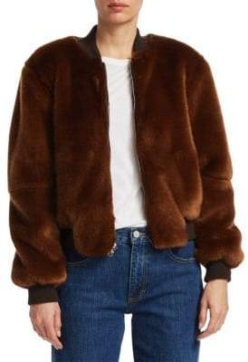 Elizabeth and James Ellington Faux Fur Bomber Jacket
