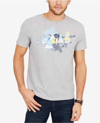 Nautica Men's Artist Series Sailboats Graphic-Print T-Shirt