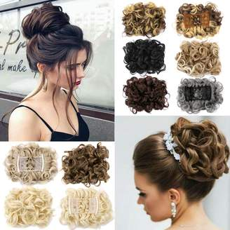 styling/ Lelinta Hair Bun Extensions Donut Hair Chignons Wig Scrunchy Scrunchie Updo Hairpiece