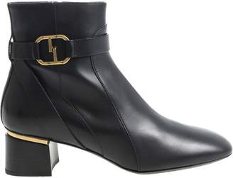 Tod's Zipper Strap Ankle Boots