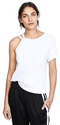 Pam & Gela Women's Strappy One Shoulder Sweatshirt