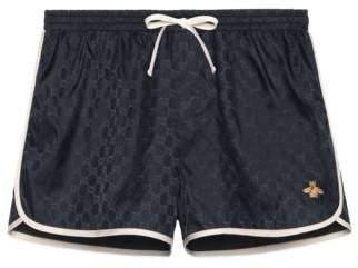 Gucci GG nylon swim short with bee