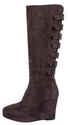 Ann Demeulemeester Knee-High Wedge Boots Knee-High Wedge Boots