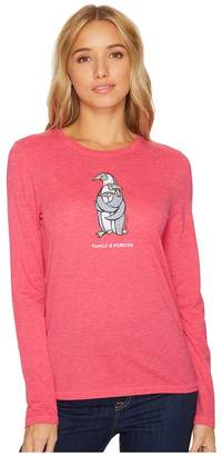 Life is Good Penguin Family Long Sleeve Cool Tee Women's Long Sleeve Pullover