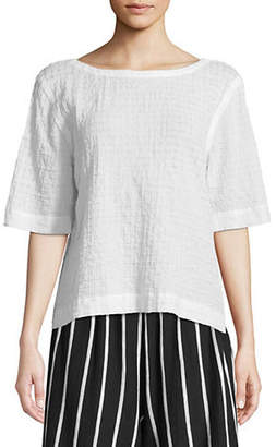 Eileen Fisher Organic Cotton Voile Box Top
