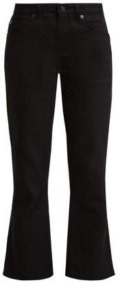 Saint Laurent Kick Flare Jeans - Womens - Black