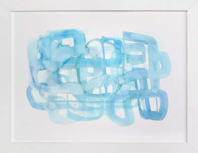 Blue Watercolor Wash Art Print