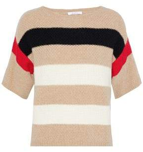 Max Mara Striped Crochet-Knit Cashmere Sweater