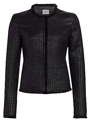 Akris Punto Women's Lacquered Tweed Fringe Jacket
