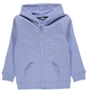 George Light Blue Zip-up Hoodie