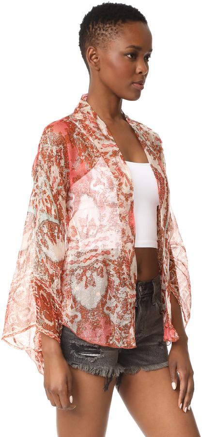 Free People Fleur De Lis Kimono