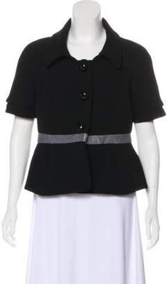 Balenciaga Short Sleeve Evening Coat