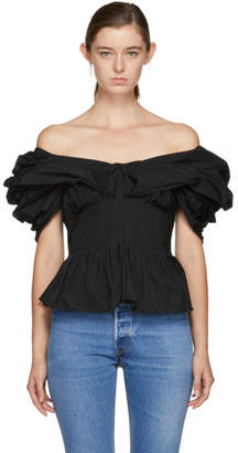 Brock Collection Black Tavi Off-the-Shoulder Blouse