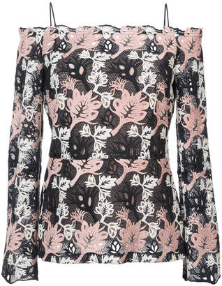 Yigal Azrouel off-shoulder patterned top