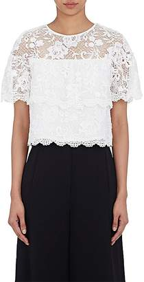 Barneys New York WOMEN'S DENTELLE LACE CROP TOP