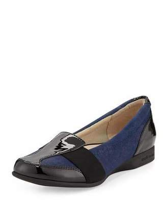 Taryn Rose Taurus Suede Comfort Slip-On, Navy $145 thestylecure.com