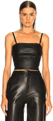 Report Sablyn Max Leather Tube Top