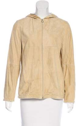 Brunello Cucinelli Suede Zip-Up Jacket