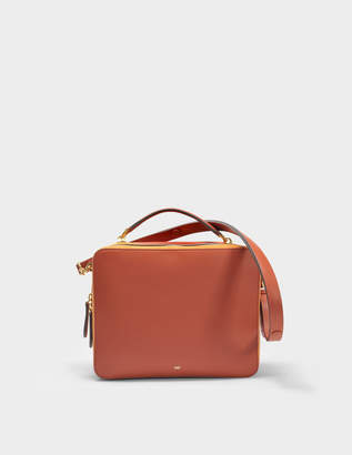 Anya Hindmarch The Stack Double Satchel Bag in Hazelnut Leather