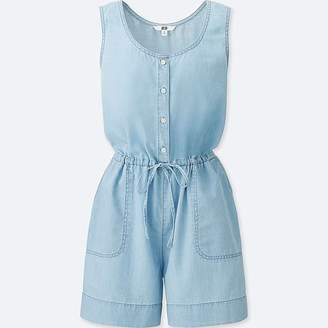 Uniqlo Women's Denim Sleeveless Romper