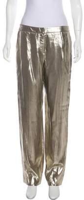Oscar de la Renta Metallic Wide-Leg Pants