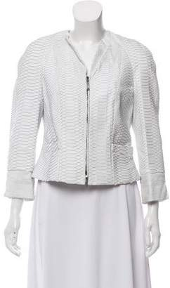Salvatore Ferragamo Structured Python Jacket
