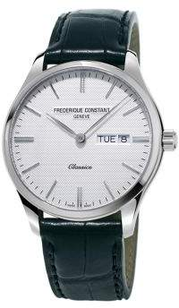 Frederique Constant Classics Quartz Stainless Steel and Leather Strap Watch