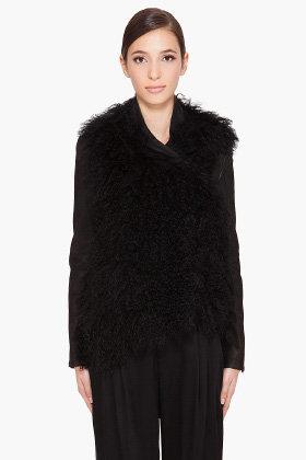HELMUT LANG Mongolian Fur Jacket